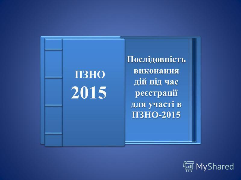 Послідовність виконання дій під час реєстрації для участі в ПЗНО-2015