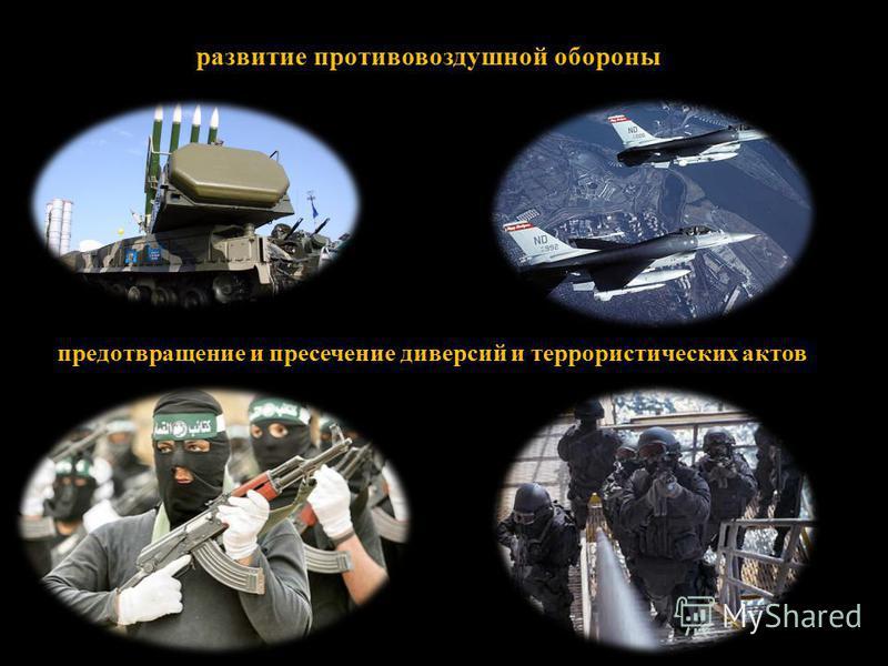 развитие противовоздушной обороны предотвращение и пресечение диверсий и террористических актов