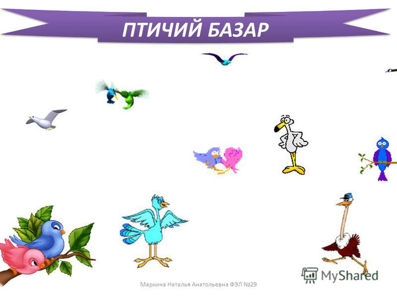 ПТИЧИЙ БАЗАР Маркина Наталья Анатольевна ФЭЛ 29