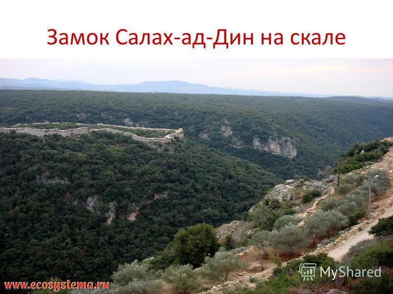 Замок Салах-ад-Дин на скале