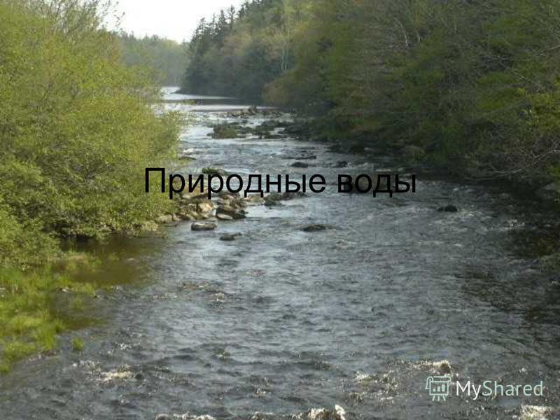 Природные воды