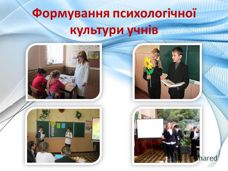 Формування психологічної культури учнів