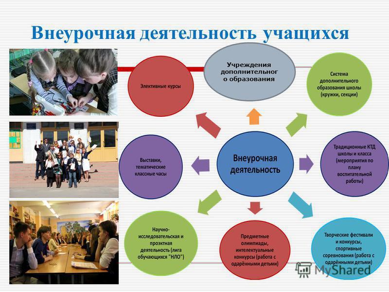 Учреждения дополнительного образования Внеурочная деятельность учащихся