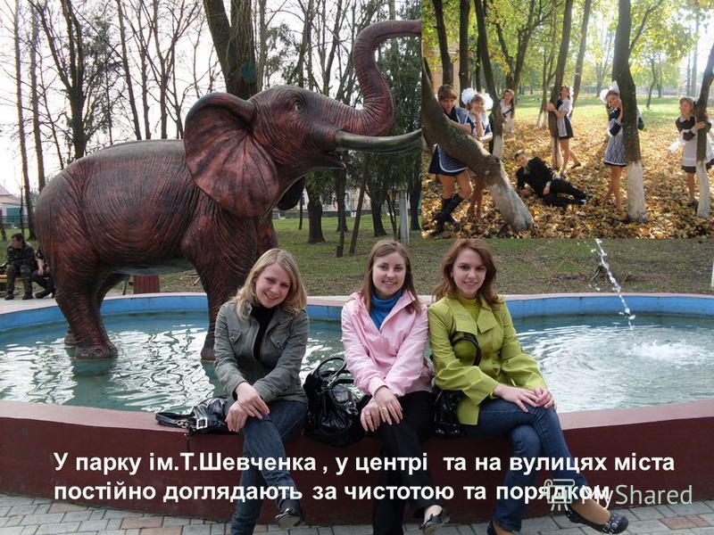 У парку ім.Т.Шевченка, у центрі та на вулицях міста постійно доглядають за чистотою та порядком