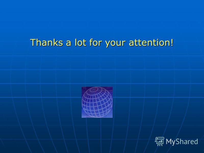 Thanks a lot for your attention!