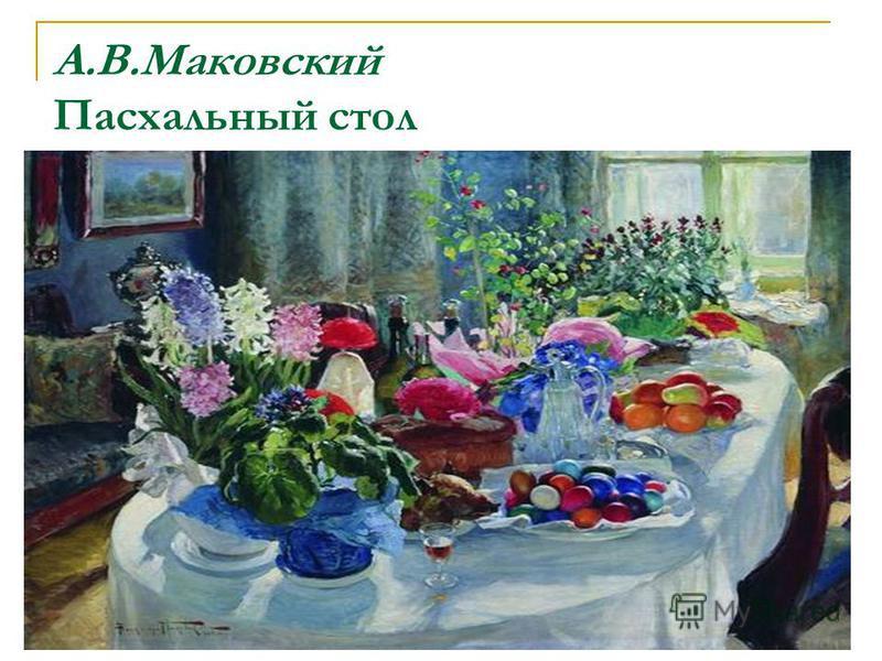 А.В.Маковский Пасхальный стол