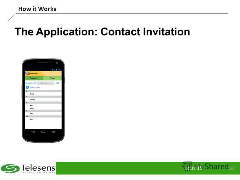 The Application: Contact Invitation März 15 30 How it Works