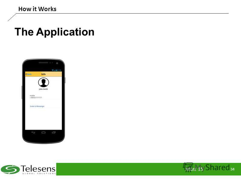 The Application März 15 34 How it Works