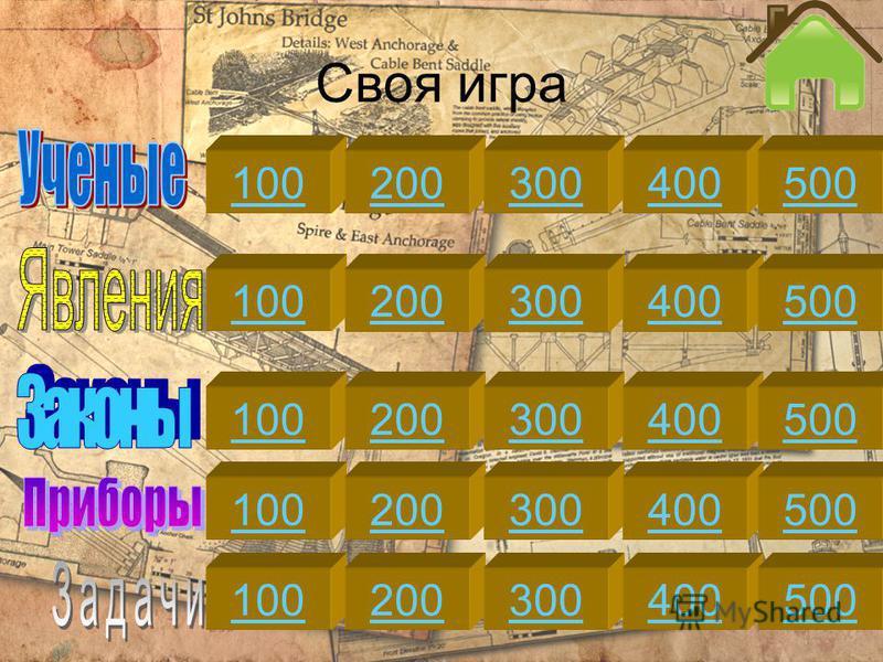 Своя игра 100200300400500 100200300400500 100200300400500 100200300400500 100200300400500