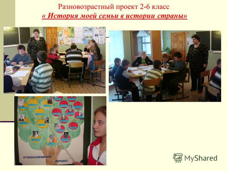 Разновозрастный проект 2-6 класс « История моей семьи в истории страны»