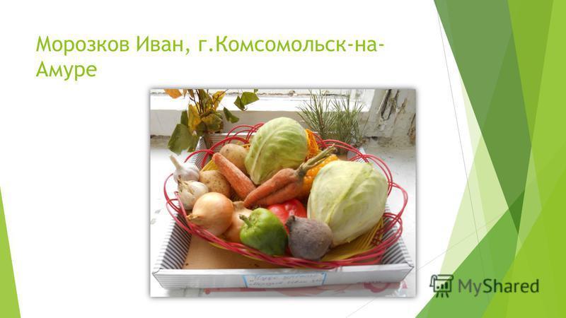Морозков Иван, г.Комсомольск-на- Амуре