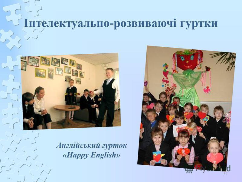 37 Інтелектуально-розвиваючі гуртки Англійський гурток «Happy English»