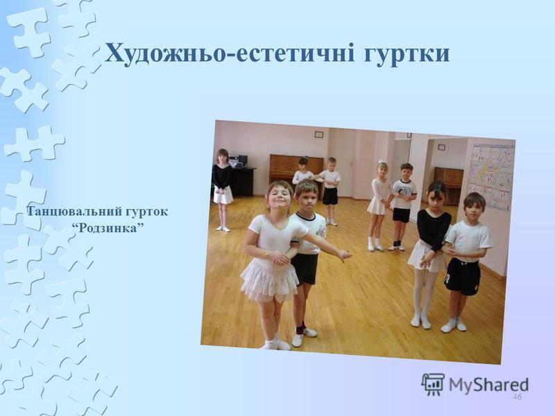 46 Художньо-естетичні гуртки Танцювальний гурток Родзинка