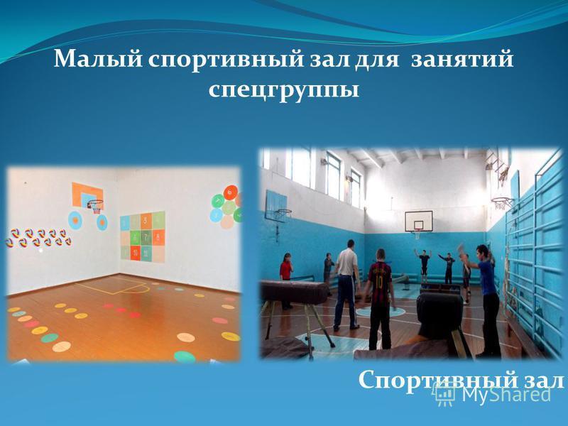Малый спортивный зал для занятий спецгруппы Спортивный зал