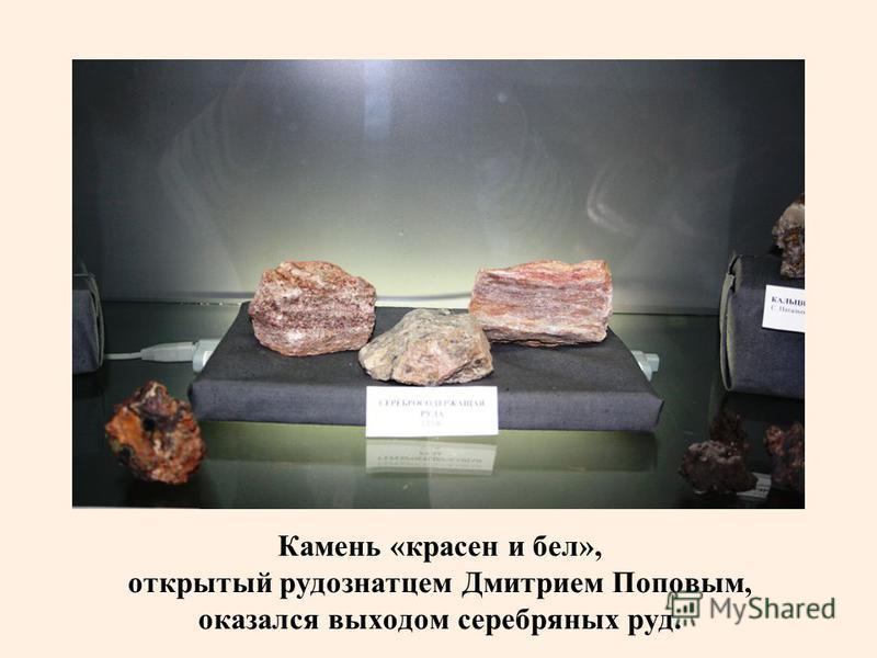 Камень «красен и бел», открытый рудознатцем Дмитрием Поповым, оказался выходом серебряных руд.