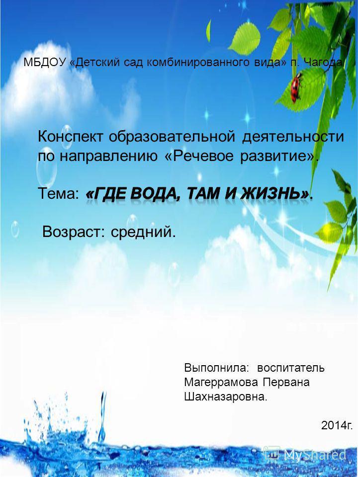 Выполнила: воспитатель Магеррамова Первана Шахназаровна. 2014 г.