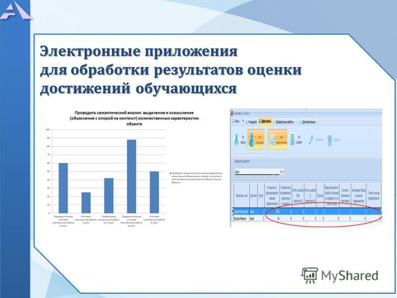 Электронные приложения для обработки результатов оценки достижений обучающихся