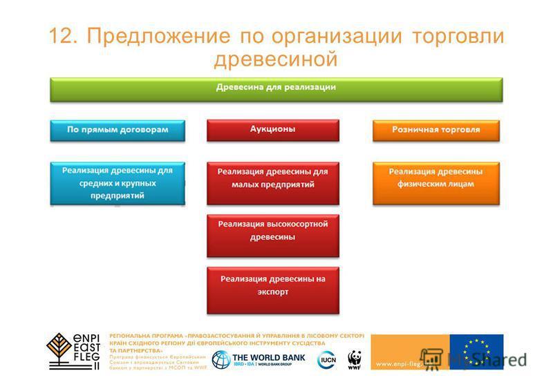 12. Предложение по организации торговли древесиной