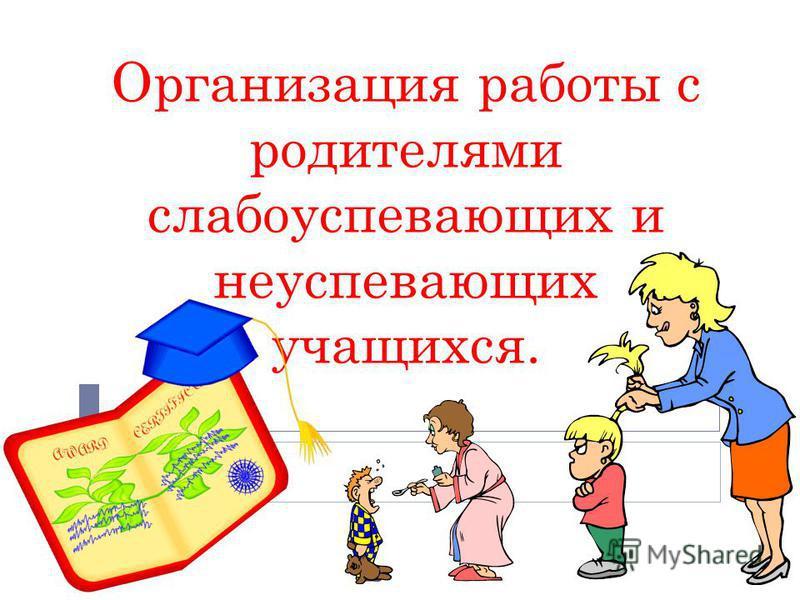 Организация работы с родителями слабоуспевающих и неуспевающих учащихся.