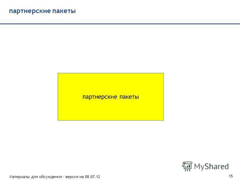 Материалы для обсуждения - версия на 08.07.12 15 партнерские пакеты