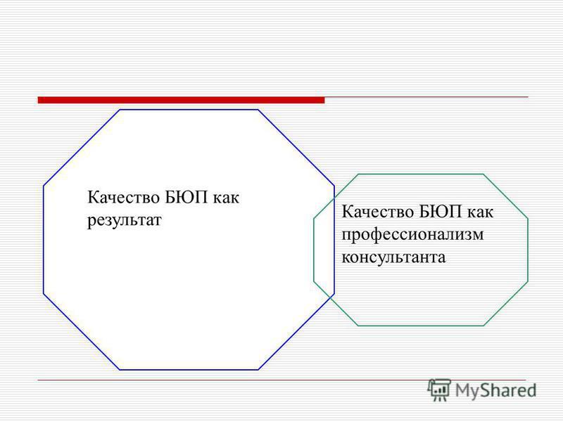Качество БЮП как результат Качество БЮП как профессионализм консультанта