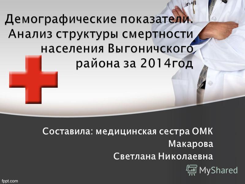 Составила: медицинская сестра ОМК Макарова Светлана Николаевна