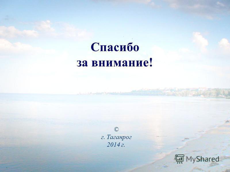 Спасибо за внимание! © г. Таганрог 2014 г.