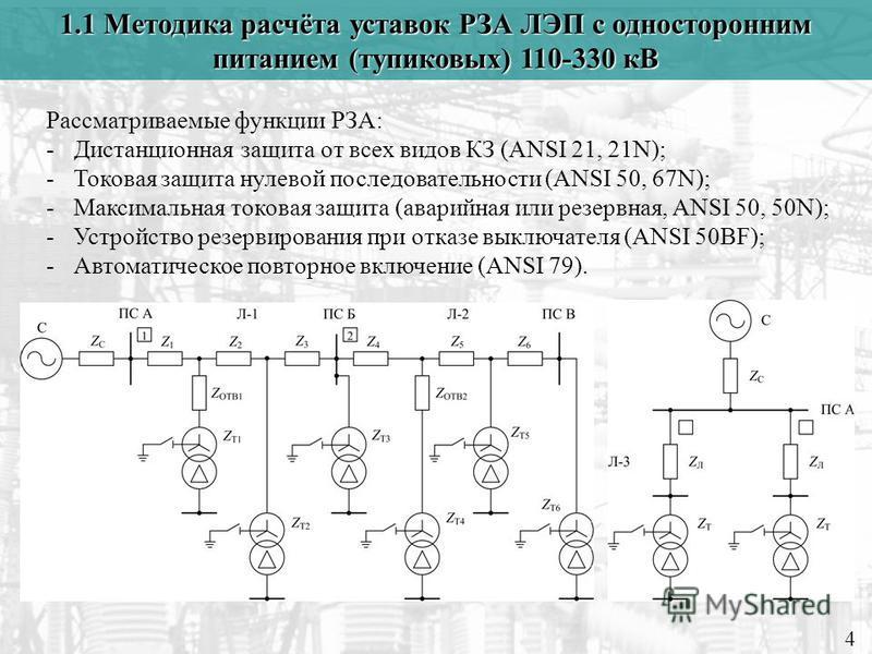Расчет уставок релейной защиты трансформатора 10/0,4 кВ