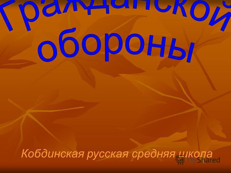 Кобдинская русская средняя школа