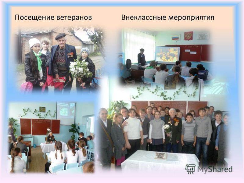 Посещение ветеранов Внеклассные мероприятия