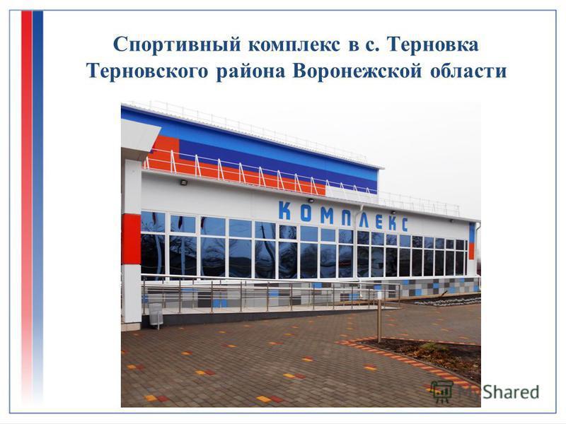 Спортивный комплекс в с. Терновка Терновского района Воронежской области