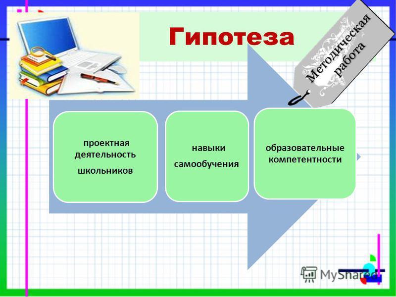 Гипотеза проектная деятельность школьников навыки самообучения образовательные компетентности