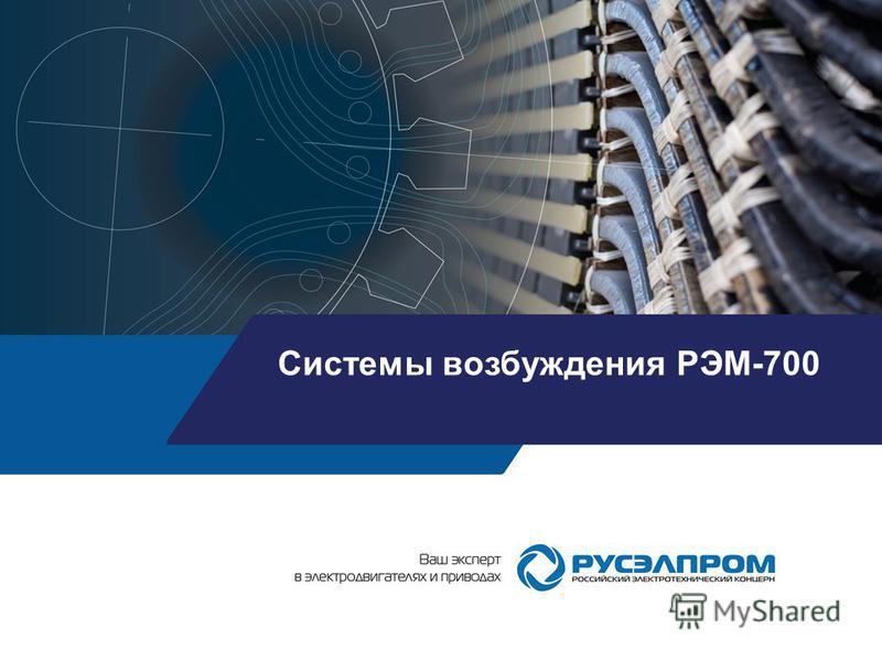 Системы возбуждения РЭМ-700
