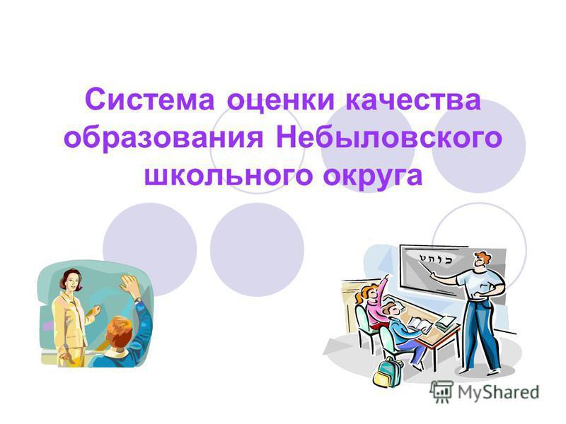 Система оценки качества образования Небыловского школьного округа