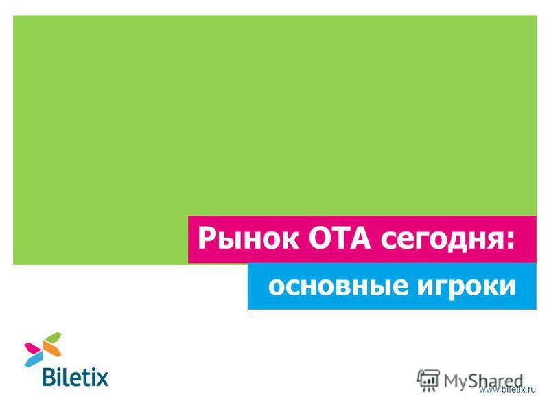 www.biletix.ru Рынок OTA сегодня: основные игроки