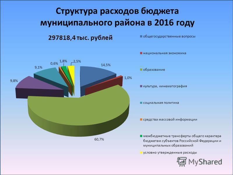 Структура расходов бюджета муниципального района в 2016 году