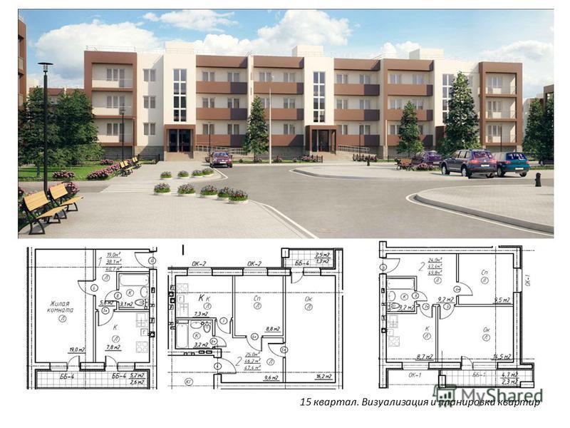 15 квартал. Визуализация и планировки квартир