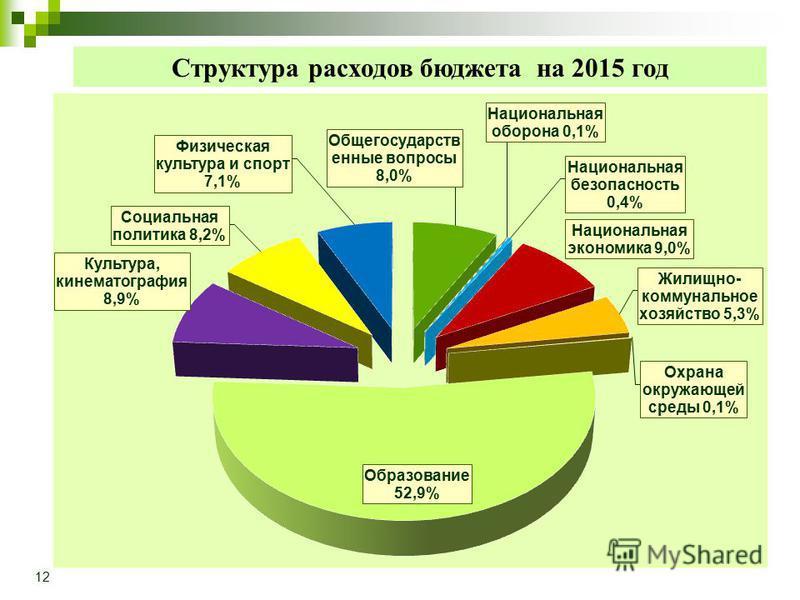 Структура расходов бюджета на 2015 год 12