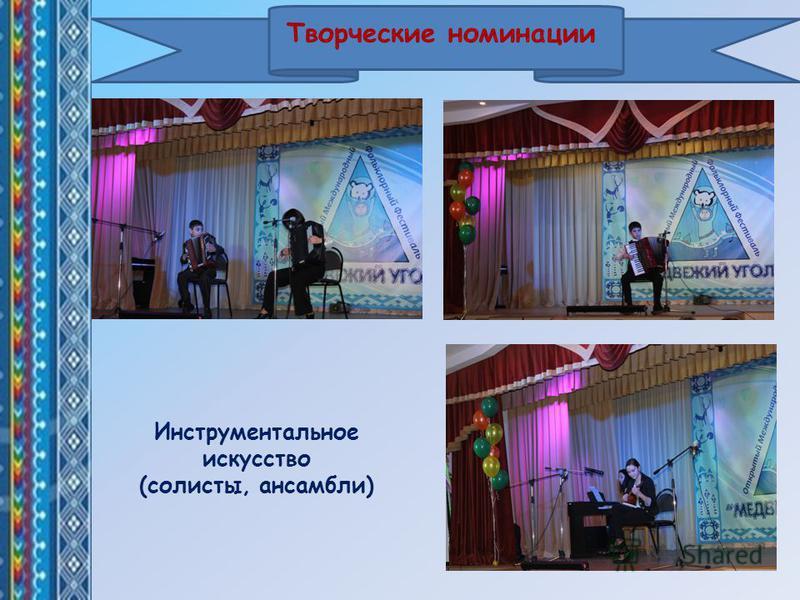 Творческие номинации Инструментальное искусство (солисты, ансамбли)