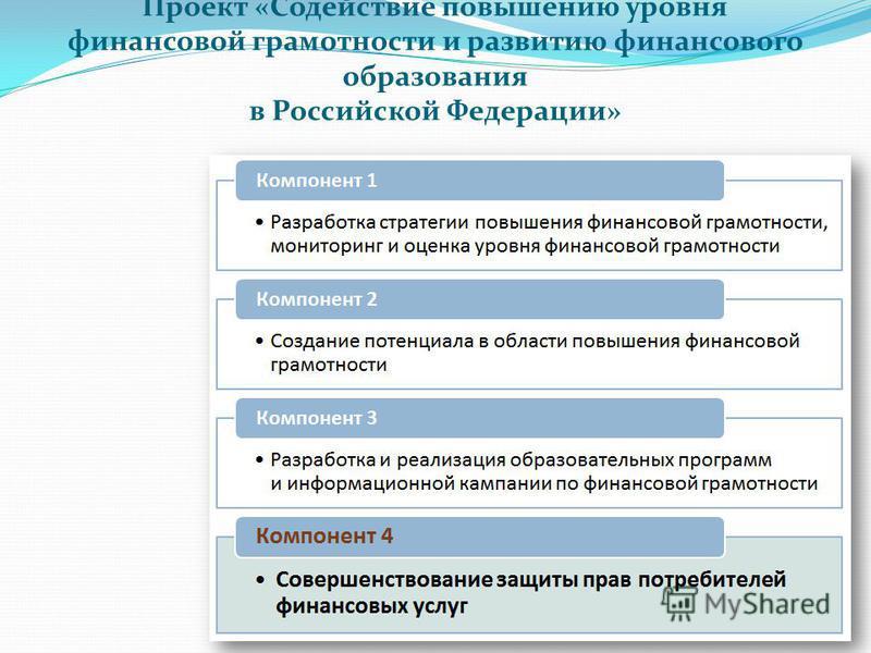 Проект «Содействие повышению уровня финансовой грамотности и развитию финансового образования в Российской Федерации»