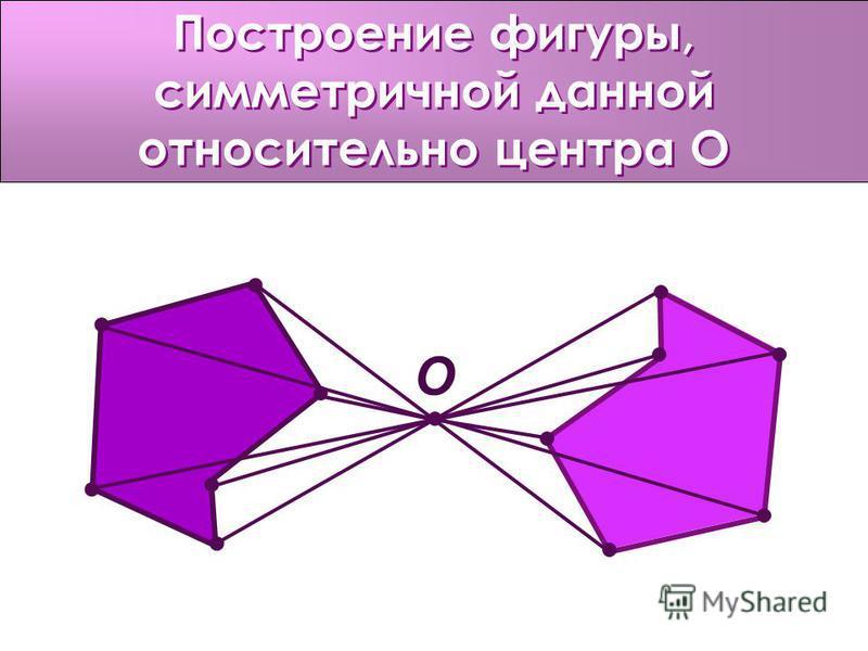 Построение фигуры, симметричной данной относительно центра О О