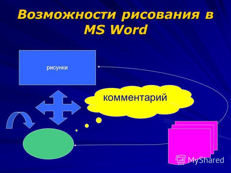 Возможности рисования в MS Word комментарий рисунки