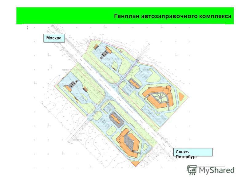 Генплан автозаправочного комплекса Санкт- Петербург Москва