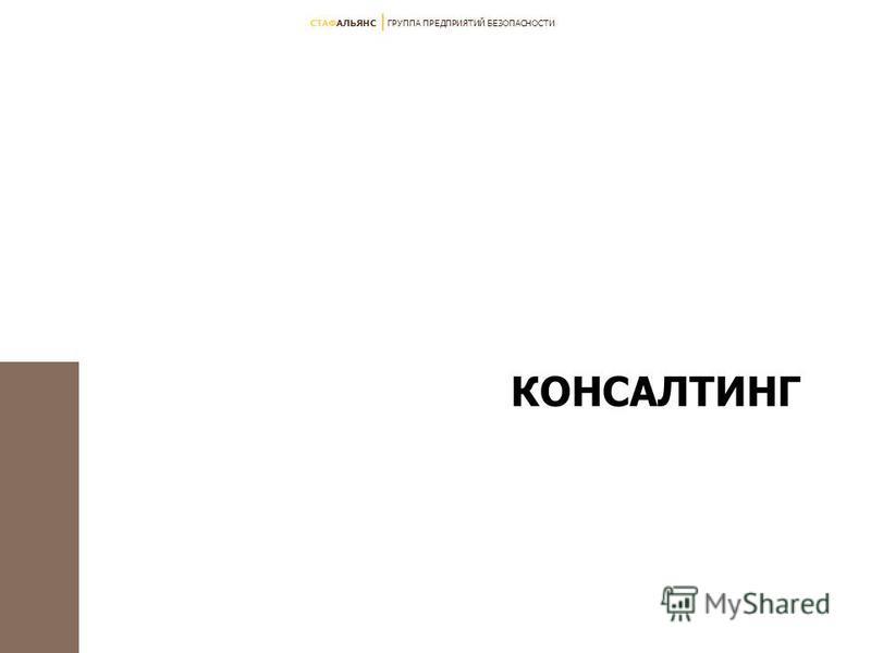 СТАФАЛЬЯНС ГРУППА ПРЕДПРИЯТИЙ БЕЗОПАСНОСТИ КОНСАЛТИНГ