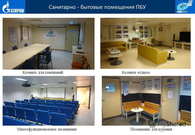 Санитарно - бытовые помещения ПБУ Комната для совещаний Комната отдыха Помещение для курения Многофункциональное помещение