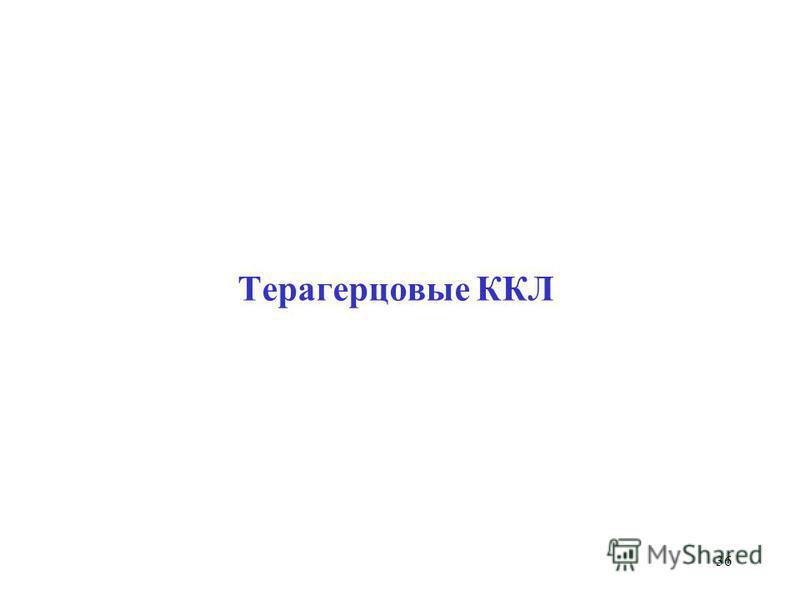 Терагерцовые ККЛ 36