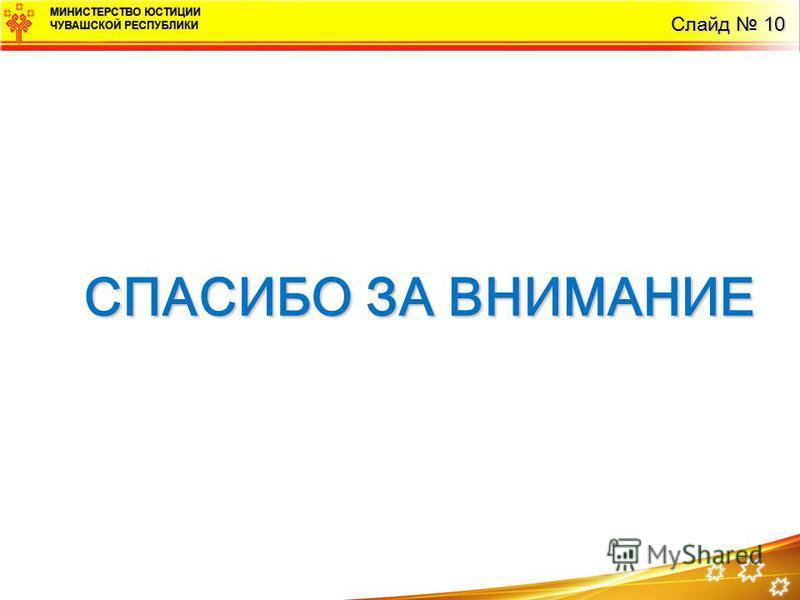 СПАСИБО ЗА ВНИМАНИЕ Слайд 10