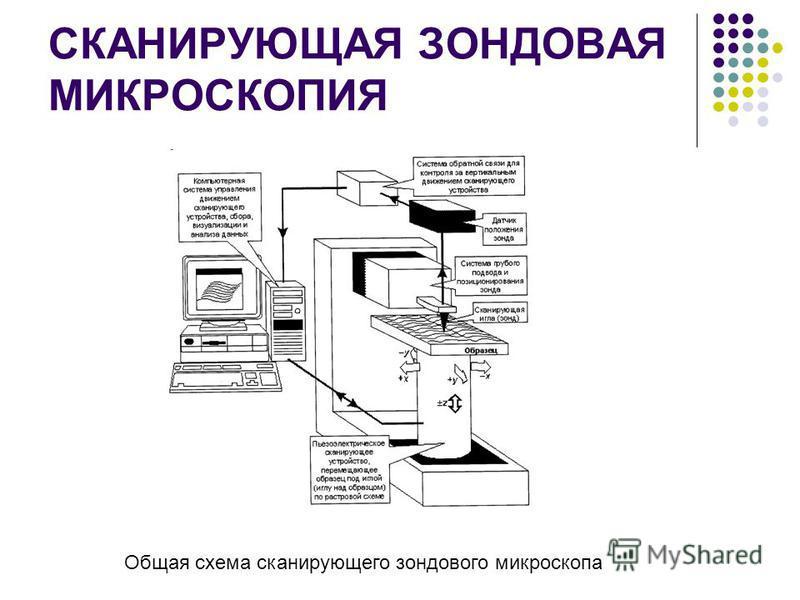 СКАНИРУЮЩАЯ ЗОНДОВАЯ МИКРОСКОПИЯ Общая схема сканирующего зондового микроскопа