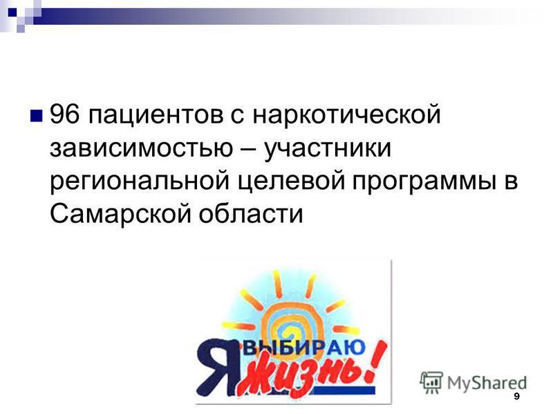 96 пациентов с наркотической зависимостью – участники региональной целевой программы в Самарской области 9