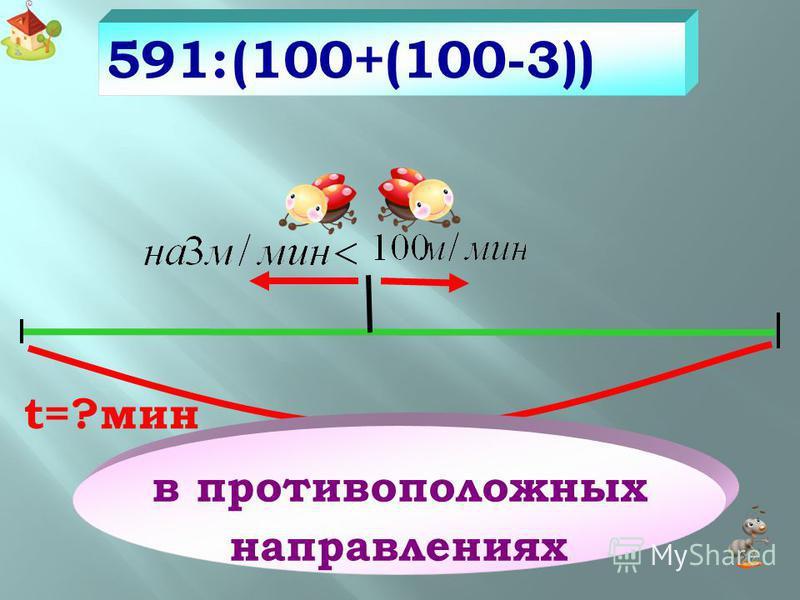 270 см -5 270:30 в противоположных направлениях t=30 сек